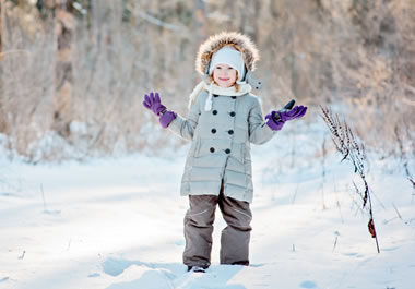 Bundled up to play in the snow