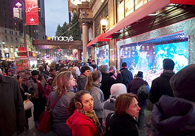 Every December, New York City receives an influx of holiday shoppers.
