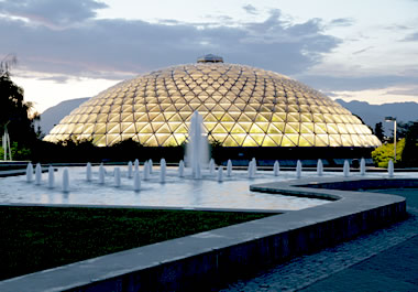 The dome of the Boedel Conservatory in Vancouver