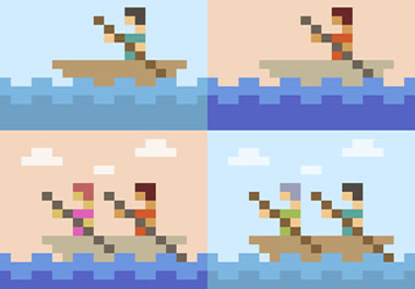 A pixelated image