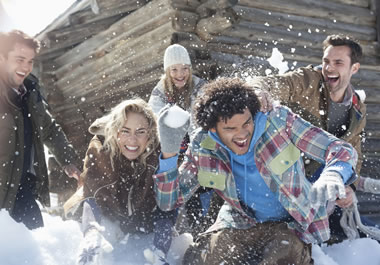 A snowball fight that turned into a free-for-all