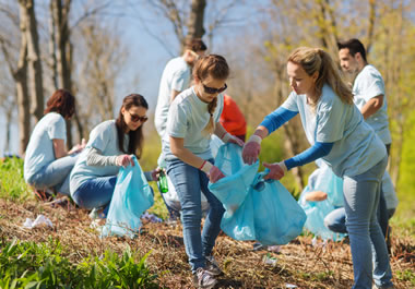 The group is making a concerted effort to clean up the area.