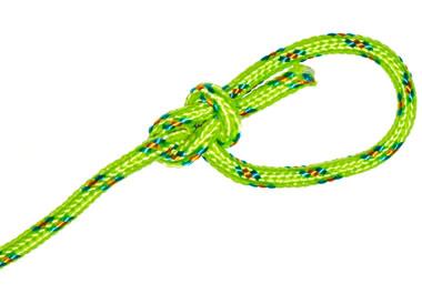 A loop of green string