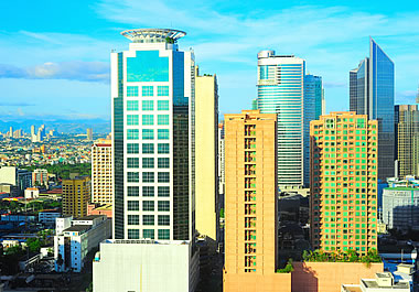 Manila, the commercial hub of the Philippines