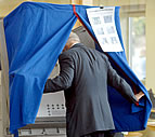Voting booth Illustration