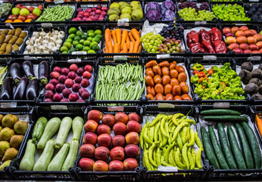 Fruits and vegetables are nutritious foods.