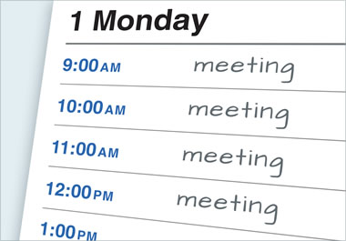 There are back-to-back meetings on Monday.