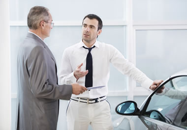 A salesman has some wiggle room to lower the price of a car.
