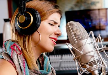 A recording session in a studio