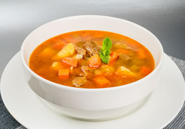 A bowl of goulash