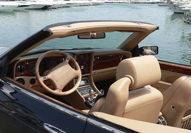 The inside of a luxury sportscar