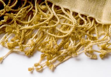 Fringe on a scarf