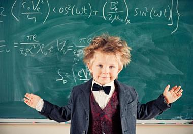 He is a math prodigy.