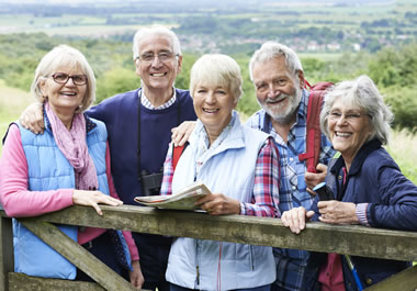 A group of golden-agers outdoors
