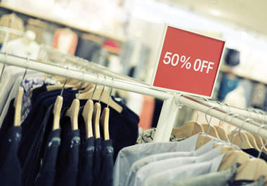 A store offering 50 percent off – as an incentive for shoppers
