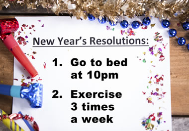It's common to make New Year's resolutions.