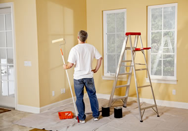 The fresh coat of paint spiffs the room up.