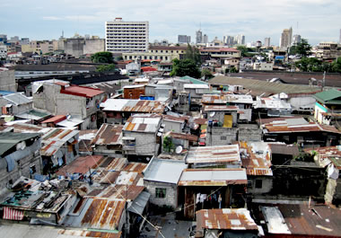 A deplorable area of the city