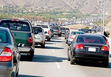 Traffic moving at a crawl