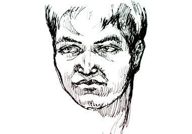 Sketch of a boy's face