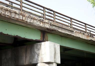 The bridge is deteriorating.