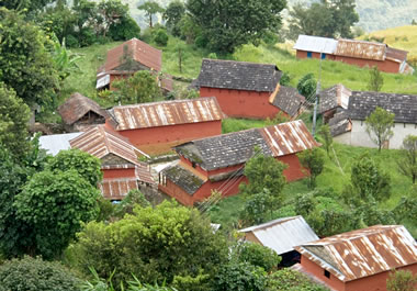 Small settlement in the Annapurna region of Nepal