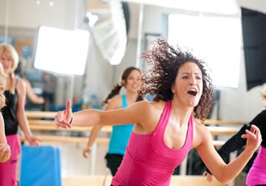 Energetic dance teacher