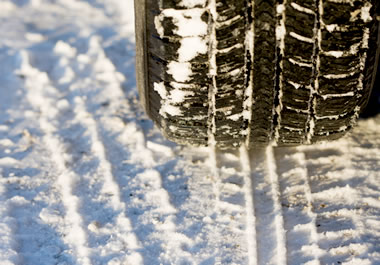 Snow tires help you get better traction.