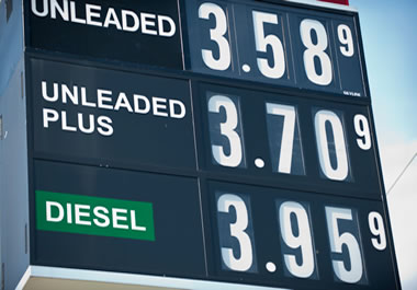 Gas prices fluctuate throughout the year.
