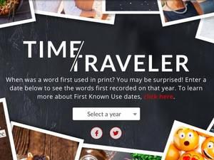 merriam webster time traveler