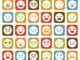 rows of various emoji