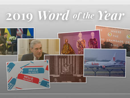 Peter Sokolowski on the 2019 Word of the Year (Video)