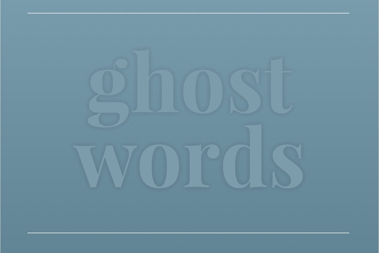 video ghost words