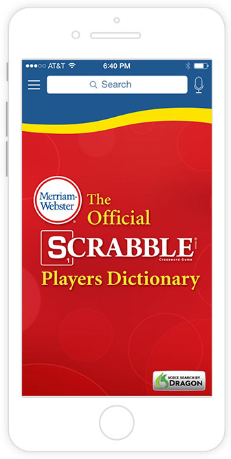 merriam-webster's scrabble dictionary app screenshot
