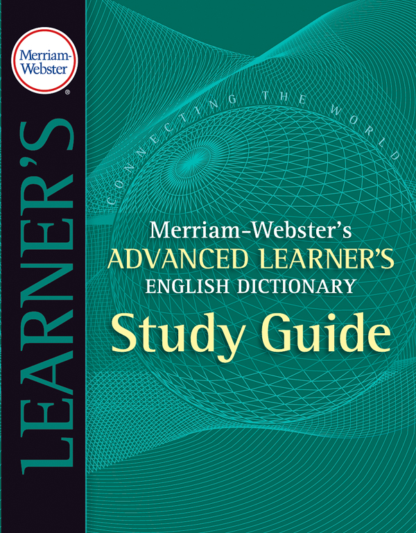 merriam-webster's advanced learner's english dictionary study guide book cover