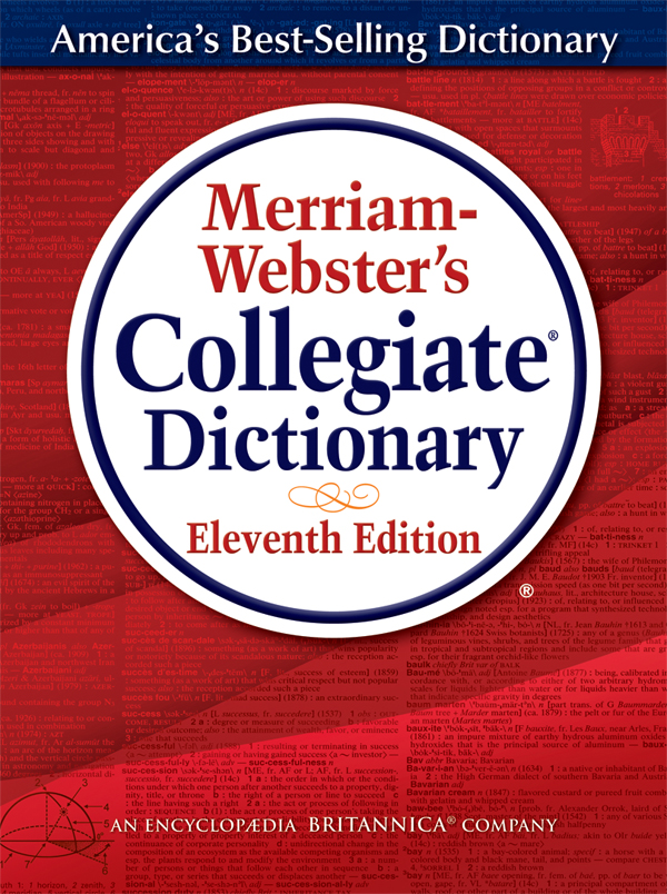 merriam-webster's collegiate dictionary, eleventh edition book cover
