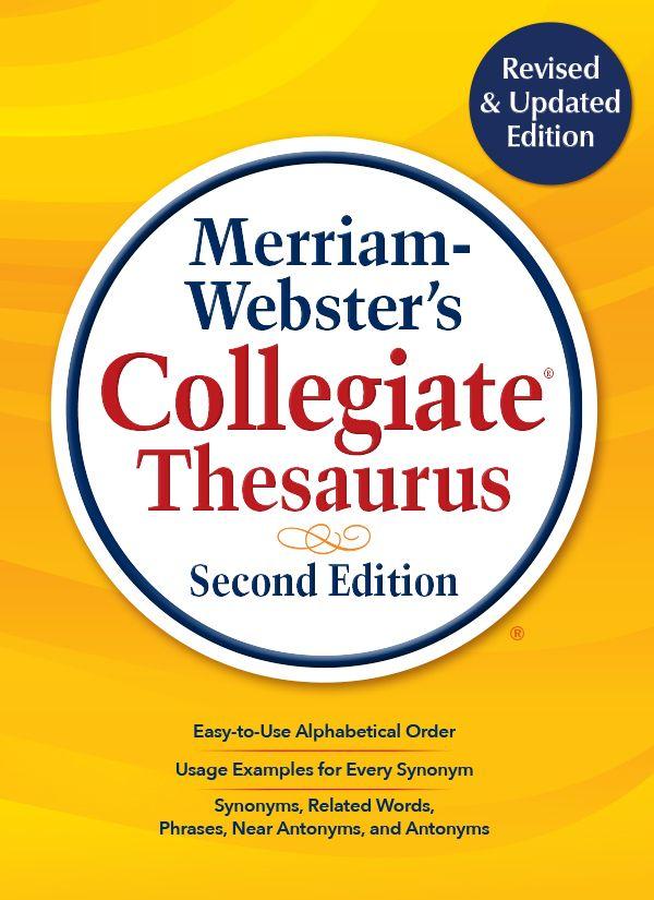 merriam-webster's collegiate thesaurus book cover