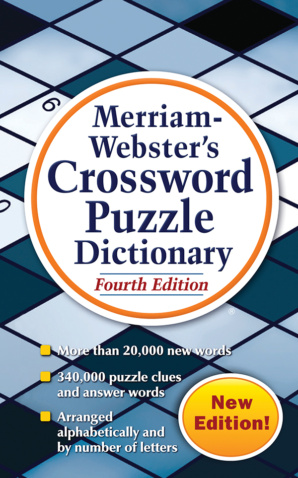 merriam-webster's crossword puzzle dictionary, fourth edition, mass-market paperback book cover