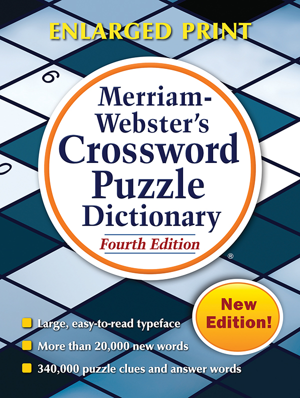 merriam-webster's crossword puzzle dictionary, fourth edition, trade paperback book cover