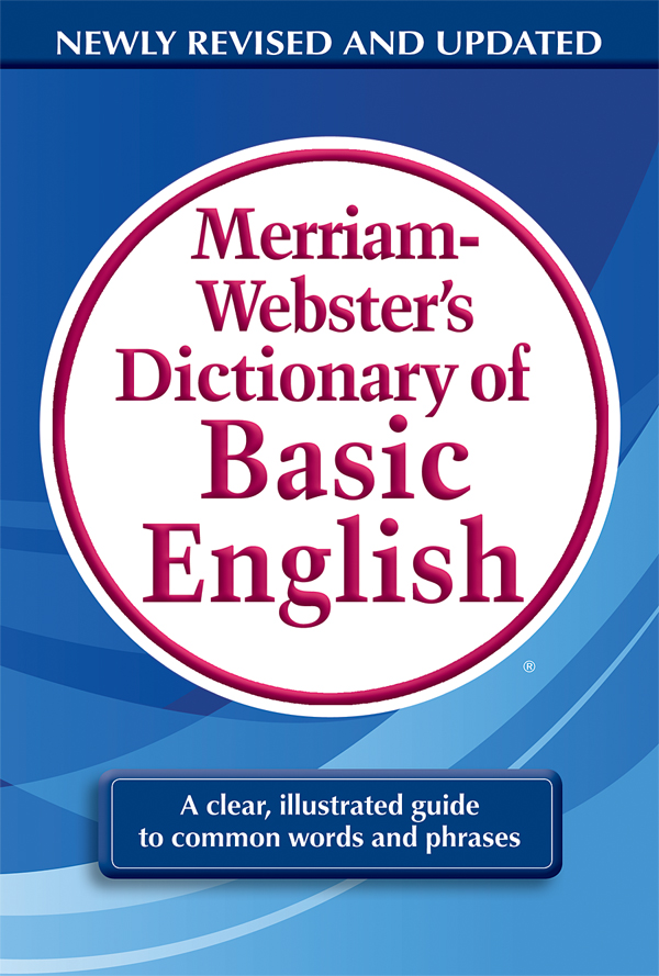 merriam-webster's dictionary of basic english book cover