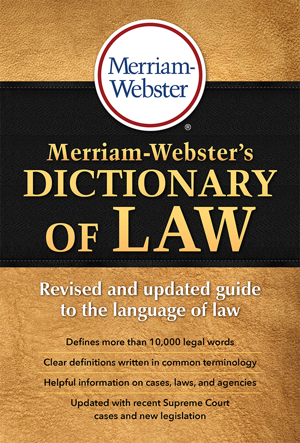 merriam-webster's dictionary of law book cover