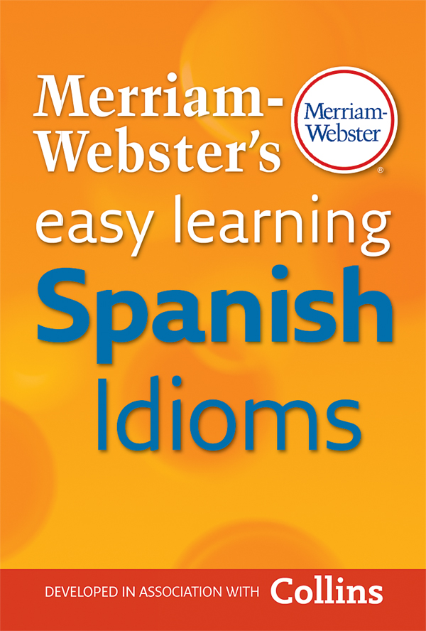 merriam-webster's easy learning spanish idioms book cover