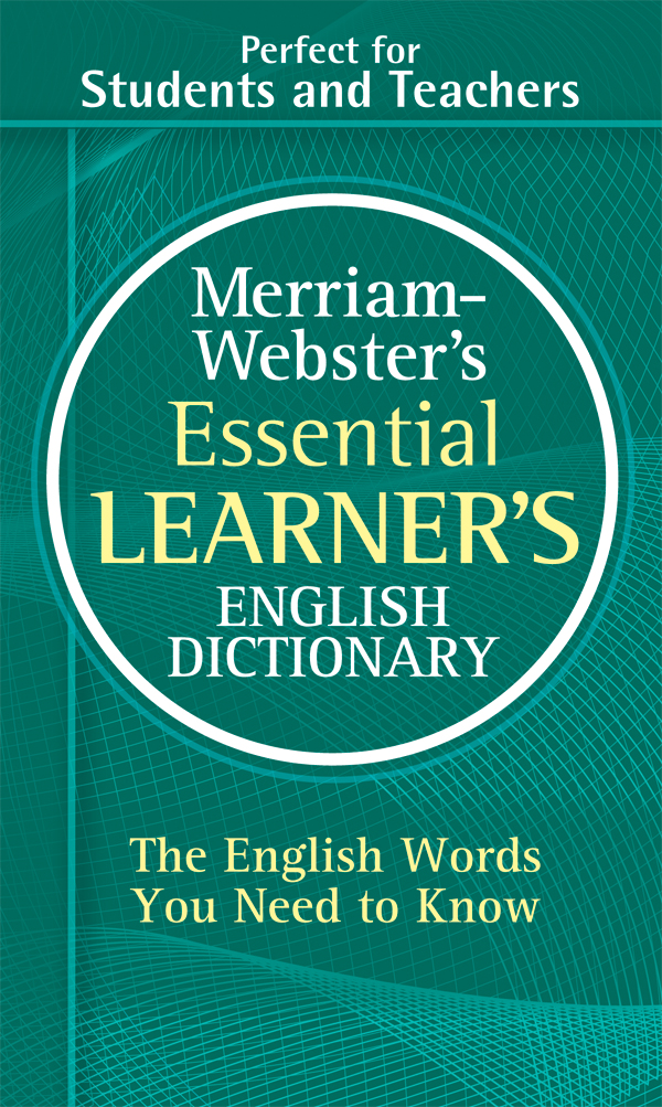 merriam-webster's essential learner's english dictionary book cover