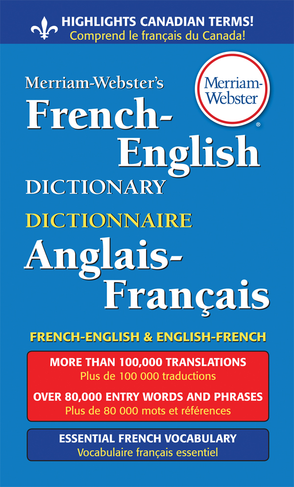 merriam-webster's french-english dictionary book cover