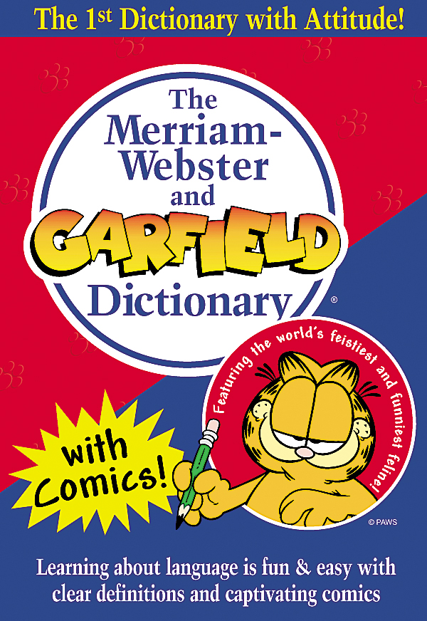 the merriam-webster and garfield dictionary book cover