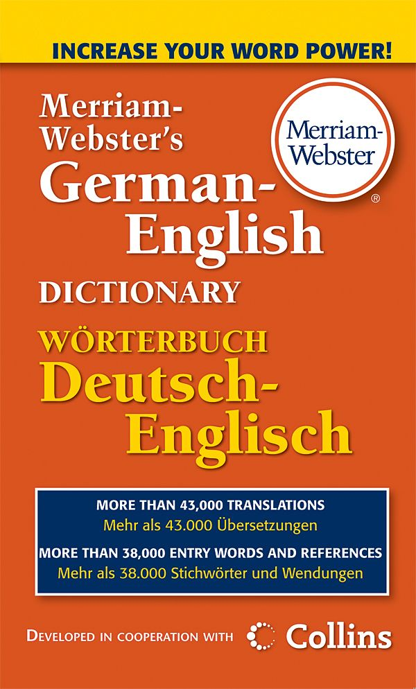 merriam-webster's german-english dictionary book cover