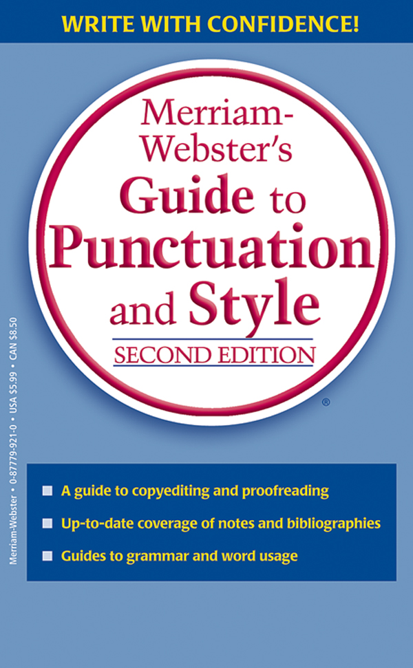 merriam-webster's guide to punctuation and style, second edition, book cover