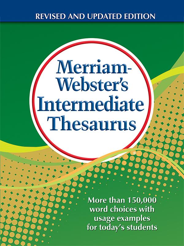 merriam-webster's intermediate thesaurus book cover