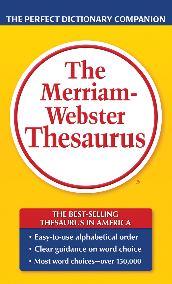 the merriam-webster thesaurus, mass-market paperback book cover