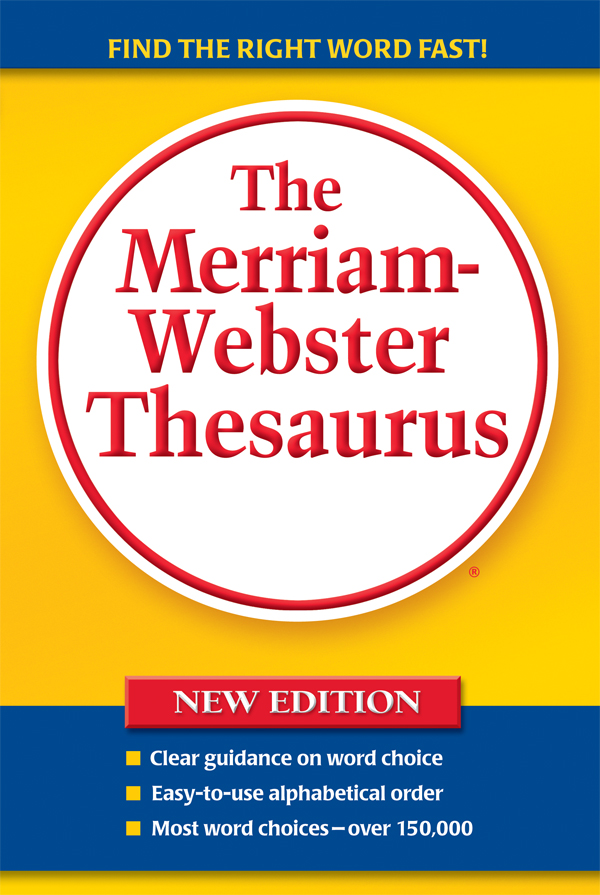 the merriam-webster thesaurus, trade paperback book cover